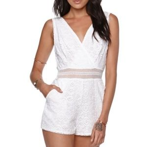 white lace kendal and kylie romper